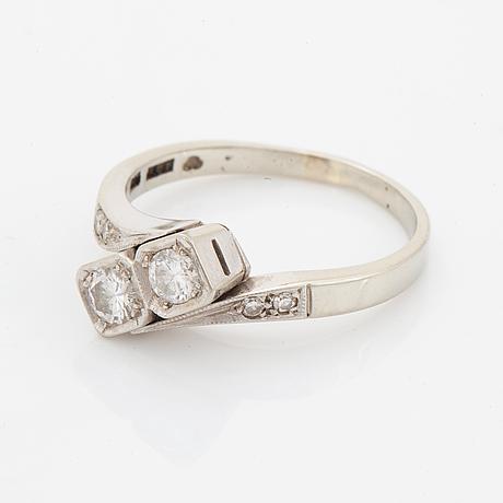 Ring, brilliant and eight cut diamonds, total 0.30 ct, gustaf dahlgren & co, malmö.