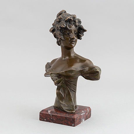 Georges van der straeten, sculpture. bronze. signed. foundry mark. total height 22.5 cm.