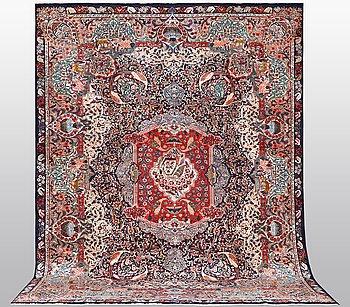 Matta, Kashmar, signerad, ca 406 x 298 cm.