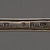 Dessertskedar, 6 st, silver, av johan hallard, stockholm 1811.