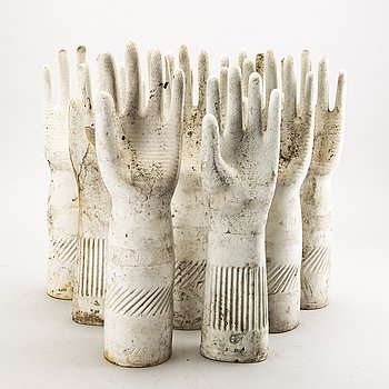 Glove molds, 9 pcs, France around 2000.
