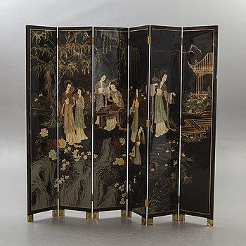 Folding screen Japan 1900s.