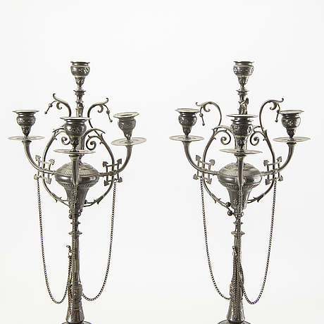 A pair of candalabras around 1900.