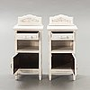 A pair of painted bedside tables first half of the 20th century.