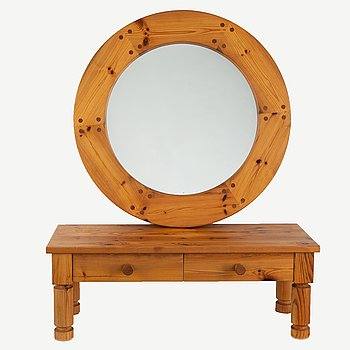 A mirror by Luxus and a chest of drawers, Sweden, 1970's.