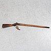 A swedish percussion rifle, 19th century.