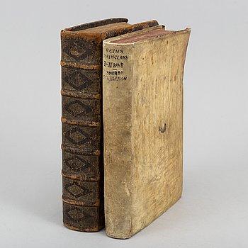 Heimskringla (PMM). Provenance: Luxdorph, Münter (2 vol).