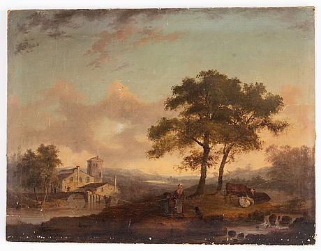 Okänd konstnär, 17/1800-tal, olja på duk/pannå.