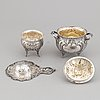 A german rococo style silver tea- and coffee service.