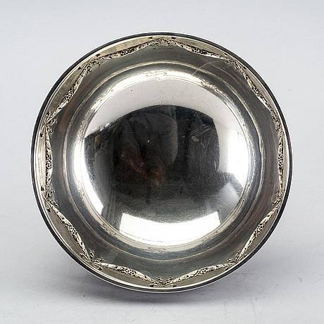 Cg hallberg, bowl, silver, 1902.
