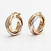 A pair of 14k gold earrings. finnish import marks 1998.