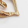 A 14k gld necklace with a diamond ca. 0.005 ct. kultajousi, helsinki.