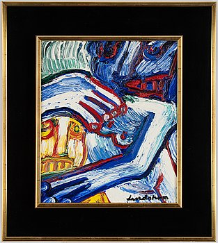 Bengt Lindström, oil on canvas, signed.