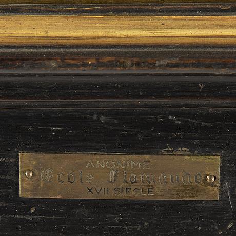 Flamländsk skola, 17/1800-tal, olja på pannå.