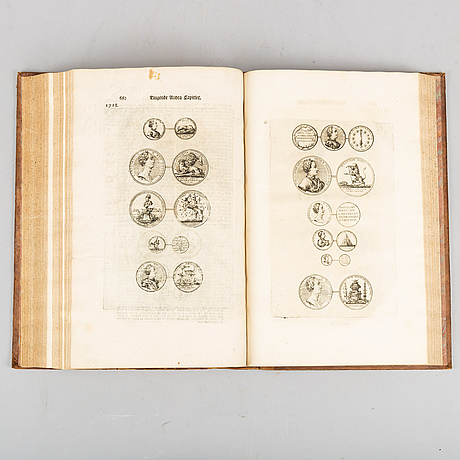 History of king karl xii, with engravings of coins and medals, 1740.