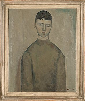 Pentti Melanen, oil on canvas, signed and dated -57.