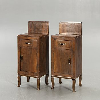 A pair of Art Deco bedside tables first half of the 20th century.