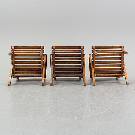 Carl malmsten, a five garden furniture suite 'bergshamra', igelstaverket.