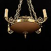 A empire style ceiling light, second half of the 20th century.
