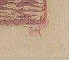 Ellen thesleff, wood cut, signed.