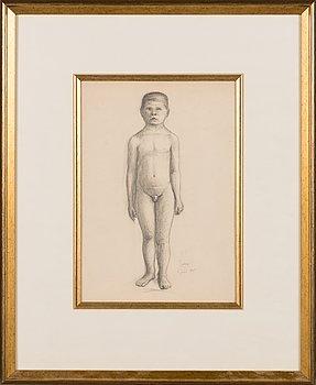 Hugo Simberg, pencil drawing, signed HS. Marked 'Tfors 6 juni 1905'.