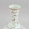 A chinese famille rose vase, second half of 20th century.