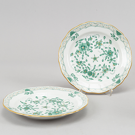 38 pieces, porcelain, meissen, 1900's.