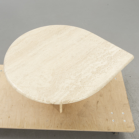 Coffee table, travertine, last part of the 20th century.