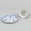 14 pieces coffe cups and saucer, royal copenhagen. denmark.