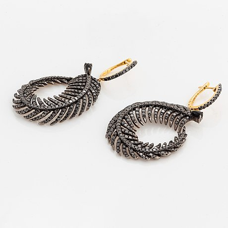 A pair of feather earrings.