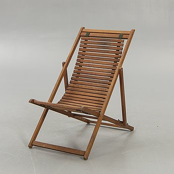 An Italian deck chair later part of the 20th century.