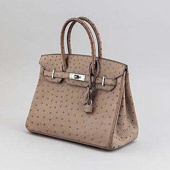 """HERMÈS, väska, """"Birkin 30"""", ostrich 2013."""