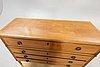 A louis xvi style mahogany bureau mid 1900s.