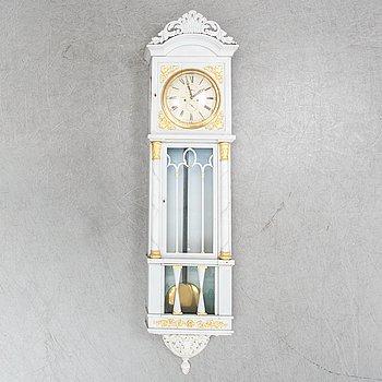 A wall pendulum clock by Anders Nylander, mid 19th century.