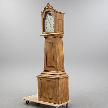 A Swedish 19th Century timepiece with a Schwarzwald area clockwork.