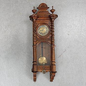 A Neo-Renaissance reugulator wall clock by Gustav Becker, late 19th Century.