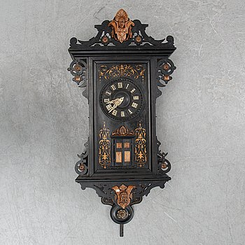 A Schwarzwald area pendulum wall clock by E. Wehrle, late 19th century.
