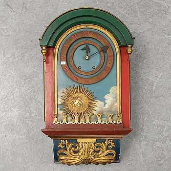A French wall clock, second part of the 19th Century.