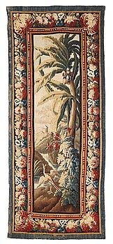 "270. A tapestry, ""Verdure"", tapestry weave, a so called ""entre-fenêtre"", ca 298 x 121-127,5 cm, signed M.R.DVBVSON.i.D."
