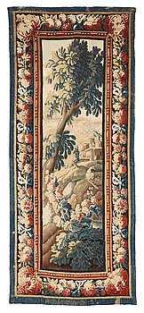 """272. A tapestry, """"Verdure"""", tapestry weave, a so called """"entre-fenêtre"""", ca 295-296 x 126-129,5 cm, signed M.R.DABVSON.i.D."""