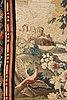 "A tapestry, ""verdure"", tapestry weave, a so called ""entre-fenêtre"", ca 293-294 x 128,5-132,5 cm, signed m.r.dvbvson.i.d."