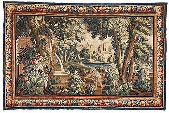 "269. A tapestry, ""Verdure"", tapestry weave, ca 280,5-290 x 432,5-436 cm, signerad ViTRA.M.R.D'AVBVSON."