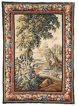 "271. A tapestry, ""Verdure"", tapestry weave, ca 279-282,5 x 196-202 cm, signed M.R.D'AVBVSSONj.DVMONTEIL."