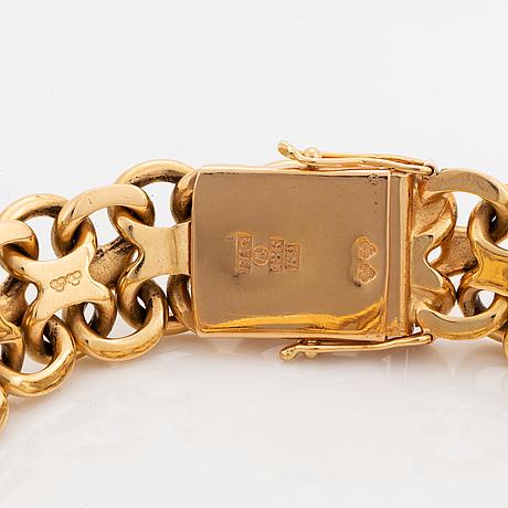 Armband, krysslänk, 18k guld, bröderna hedens guldateljé, stockholm, 1960.
