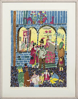 Marika Lang, lithograph in colours signed and numbered 4/250.