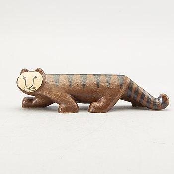 "Lisa Larson, sculpture, stoneware, ""Tiger"", from Africa, Gustavsberg, designed in 1964."