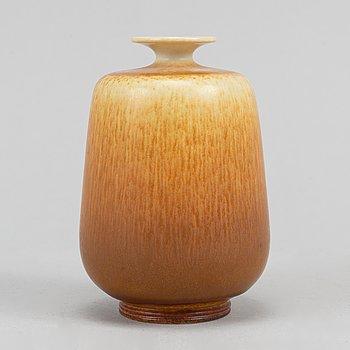 Berndt Friberg, a signed stoneware vase, Gustavsberg 1965.