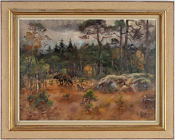 Lindorm Liljefors, oil on canvas, signed and dated -50.