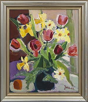 Gunnar Jonn, oil on panel signed and dated 62.