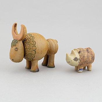 Lisa Larson, two stoneware figurines for Gustavsberg.